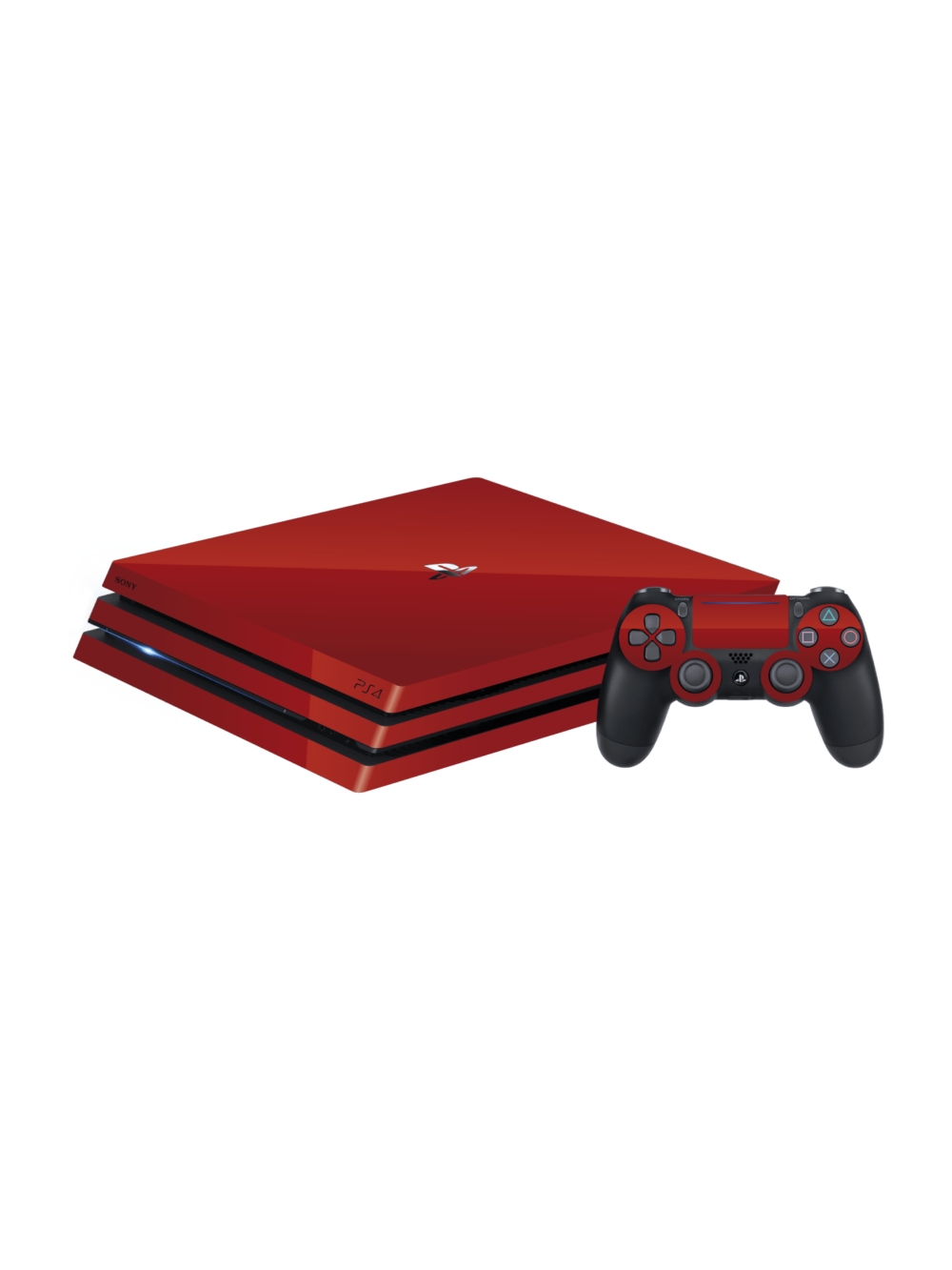 Sony PS4 Pro Glossy Vengeance Red Vinyl Skins Wraps