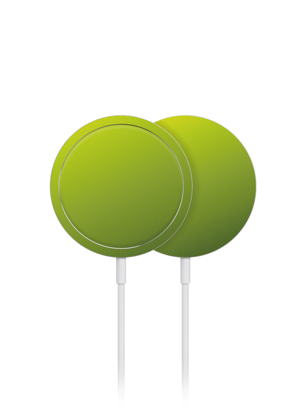 Matt viper green metallic skin wrap for Apple MagSafe Charger
