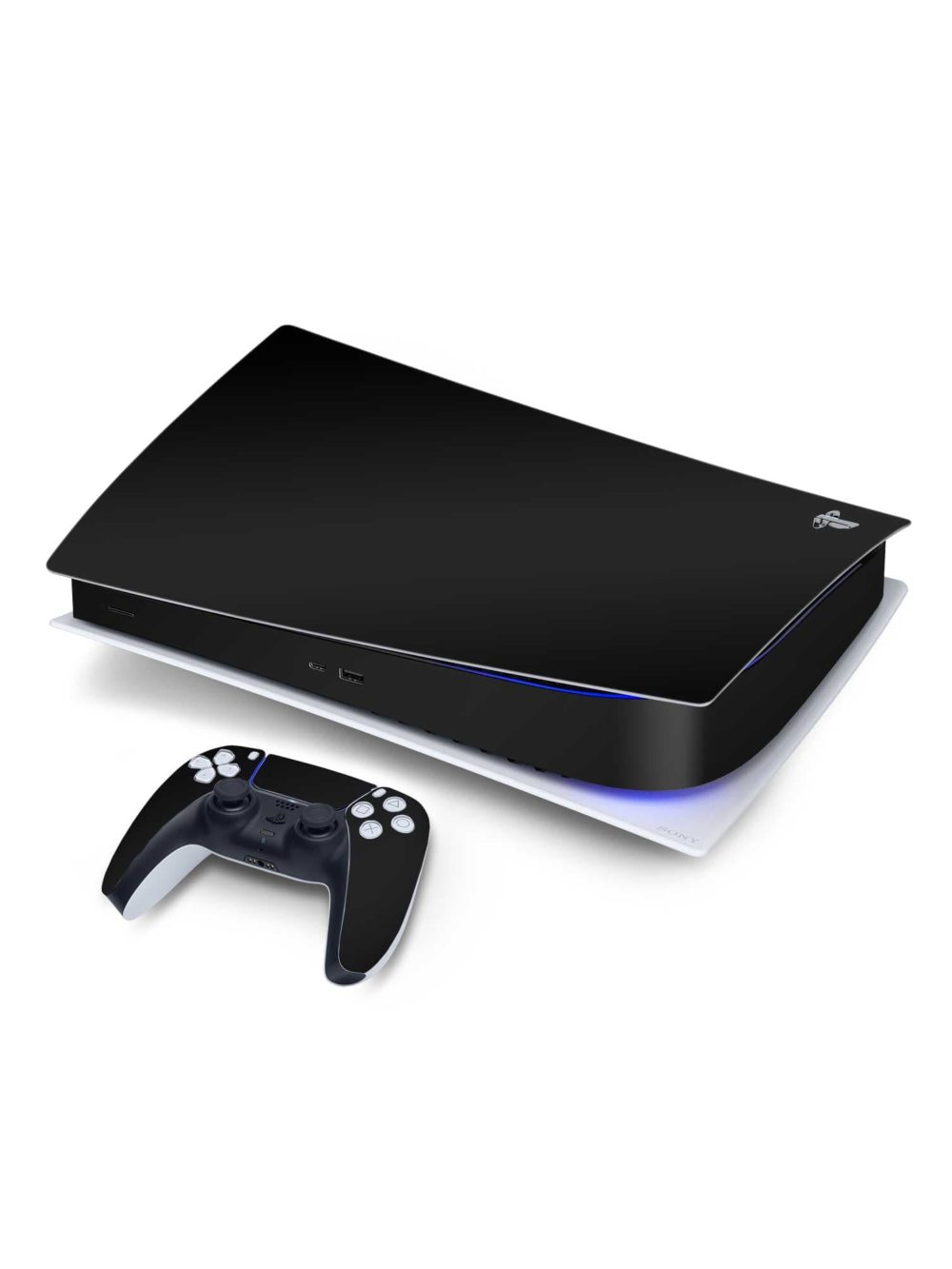 Matte Black Sony PS5 Digital Edition Vinyl Skin Wrap