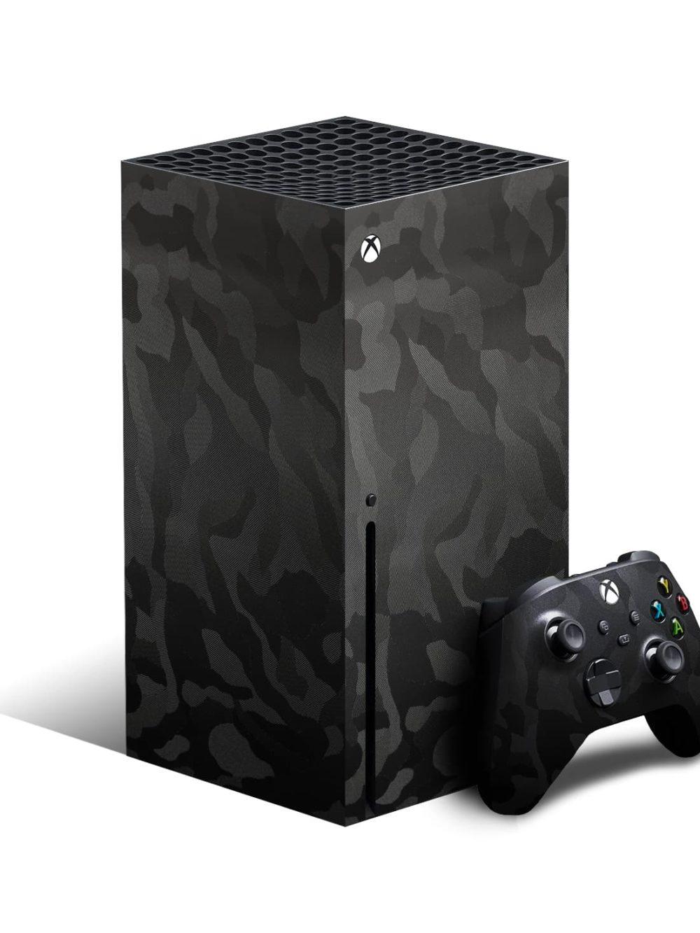 Xbox Series X Black Camo Shadow 3M Skin Wrap