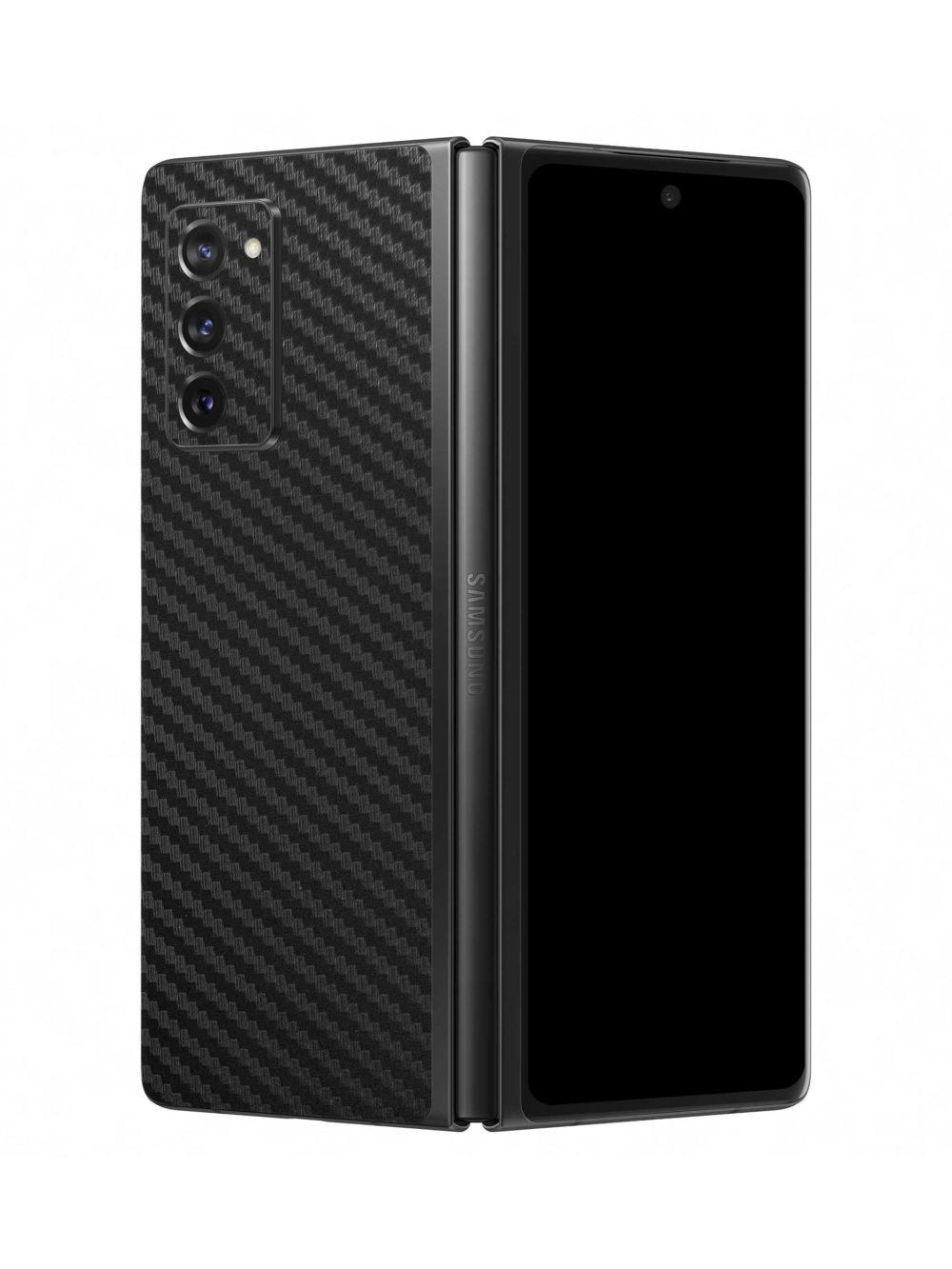 3D Carbon Fibre Vinyl Skin Wrap for Samsung Galaxy Z Fold2 5G