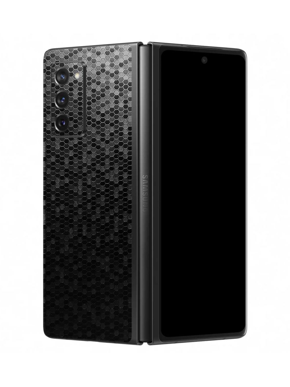 3D Textured Black Honeycomb Skin for Samsung Galaxy Z Fold2