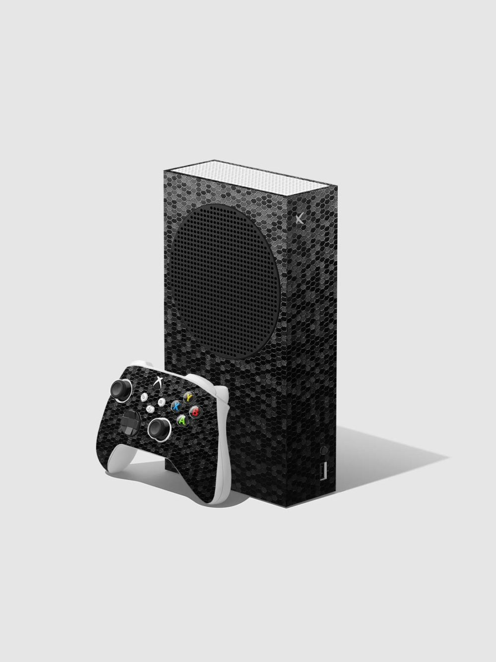 Black Honeycomb Xbox Series S Console and Controller Skin Wrap
