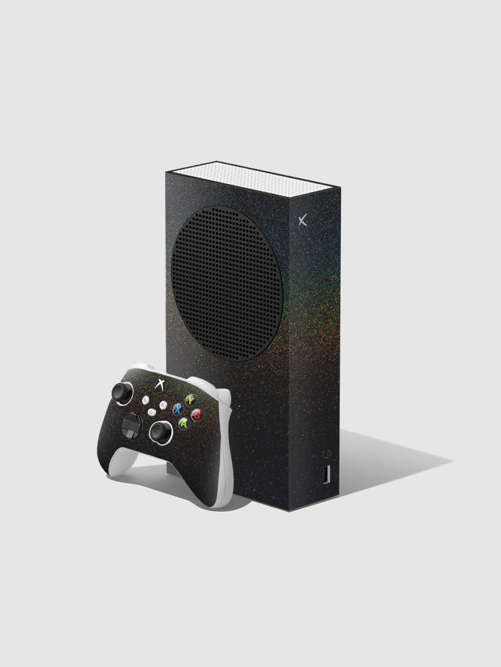 Matte Cosmic Morpheus Xbox Series S Console and Controller Skin Wrap